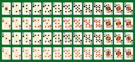 Illustration pour Blackjack plein pont en grande taille. Chiffres originaux . - image libre de droit