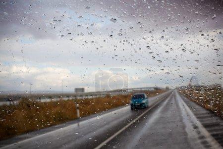 Car and rain