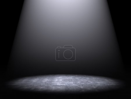 Empty dark interior