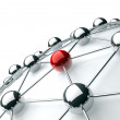 3d image of networking and internet concept isolated in white