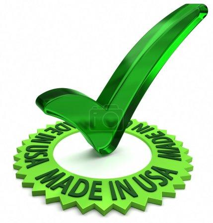 Photo pour Étiquette verte avec le texte 3d et de case à cocher. partie d'une série. - image libre de droit