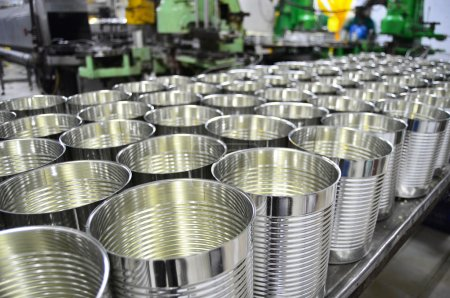 Aluminium Cans in factory warehouse