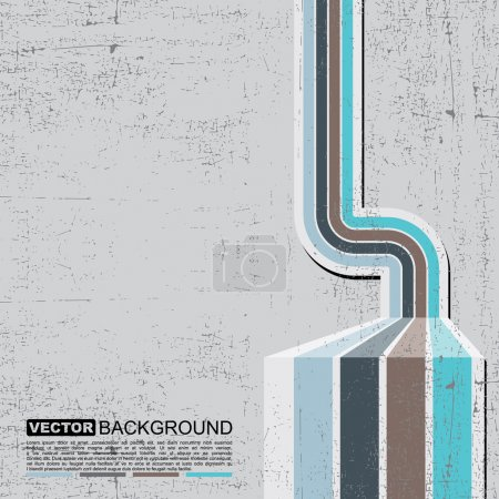 Illustration for Retro grunge background - vector - Royalty Free Image