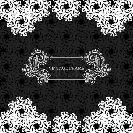 Illustration for Elegance vintage invitation card place for text or message - Royalty Free Image
