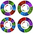 An image of a vibrant colorful time wheel arrows....