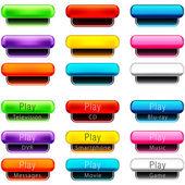 Play Pill Shaped Button Set
