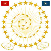 An image of a beveled gold star design elements