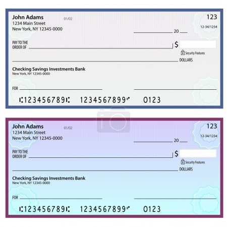 Watermark Security Personal Checks