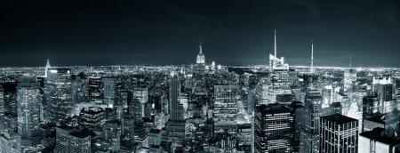 New York City Manhattan skyline at night