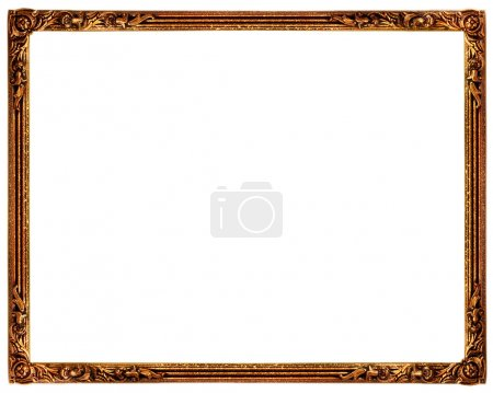 Photo for Old picture frame on plain background - Royalty Free Image