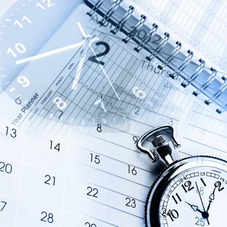 Photo for Clocks, calendar and diary pages - Royalty Free Image