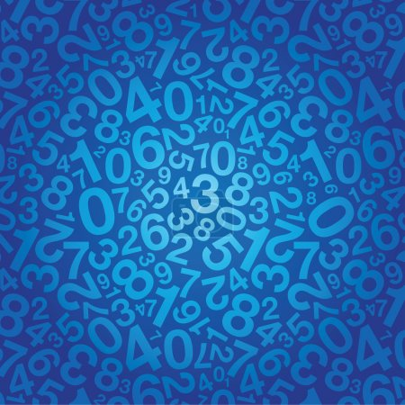 Illustration for Abstract number background - Royalty Free Image