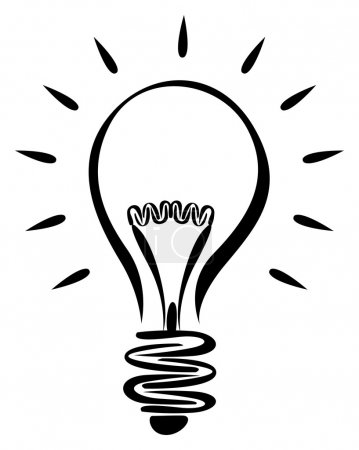 Illustration for Lightbulb idea - Royalty Free Image