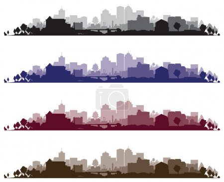 Set of cityscape backgrounds...