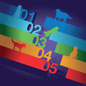 Dog number background