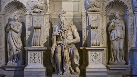 One of the amazing sculptures of Michelangelo Buonarotti - Moses