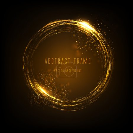 Light effects frame. Vector
