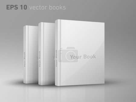 Illustration for Fully editable vector, blank book covers - Royalty Free Image