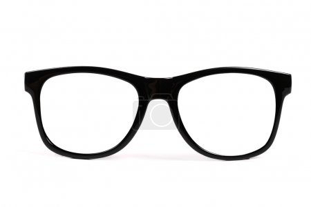 Photo for Black frame glasses isolated on white background - Royalty Free Image