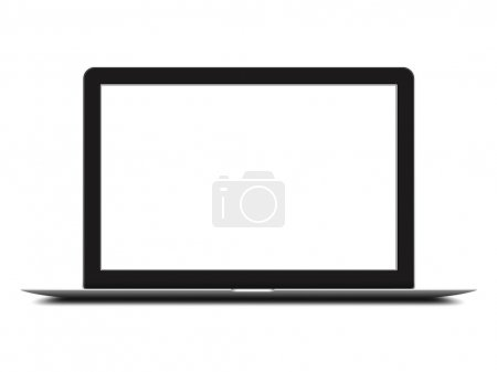 Laptop isolated on white background...