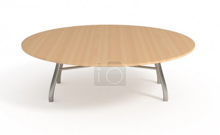 Wooden table, isolated on white, with clipping path