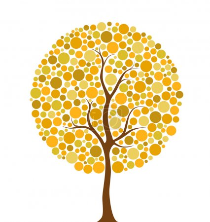 Autumn circles tree