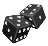 Two black dice