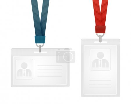Illustration for Vector illustration of identification cards with place for photo and text - Royalty Free Image