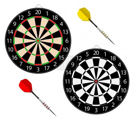 Dartboards with two darts