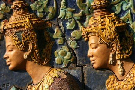 Sculpture - Wat Phnom, Phnom Penh, Cambodia
