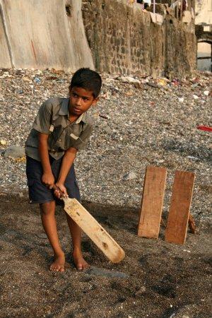 Kids Playing Cricket Banganga Village