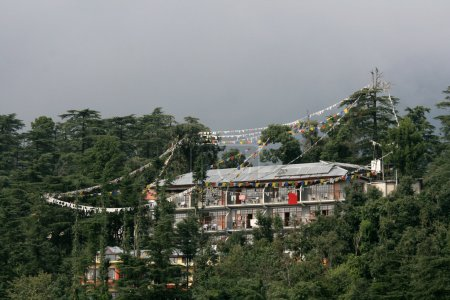 Photo for Home of the Dalai Lama in the village of Mcleod Ganj, remote town in northern India - Royalty Free Image
