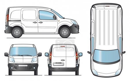 Illustration for Delivery Van Template - Layout for presentation - Vector EPS-8. - Royalty Free Image