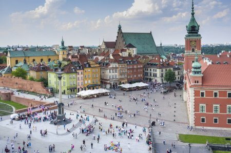 Old Town in Warsaw, Poland - panoramic view