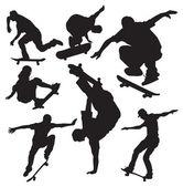 Vector skateboarders