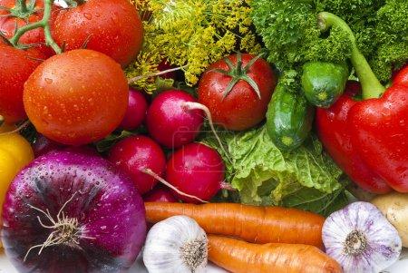 Photo pour Groupe de légumes vue rapprochée - image libre de droit