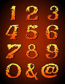 Abstract art font hand-drawn numbers(123456 7890)