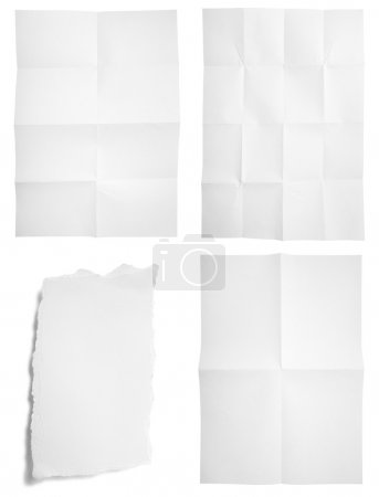 Blank unfolded paper used marks grunge