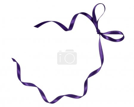 Purple ribbon celebration christmas birthday