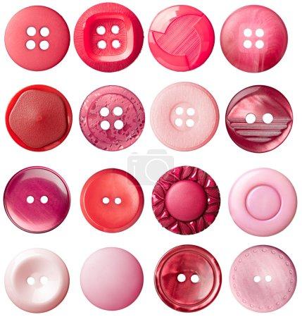 Photo pour Collection de divers boutons sur fond blanc. chacun est tiré séparément - image libre de droit