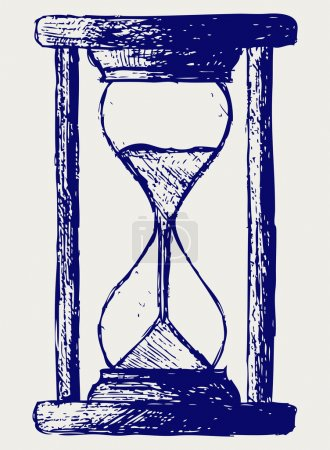 Sketch Hourglass on white