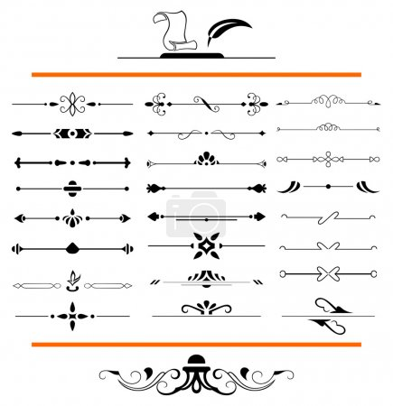 Illustration for Calligraphic design elements and page decoration - Royalty Free Image