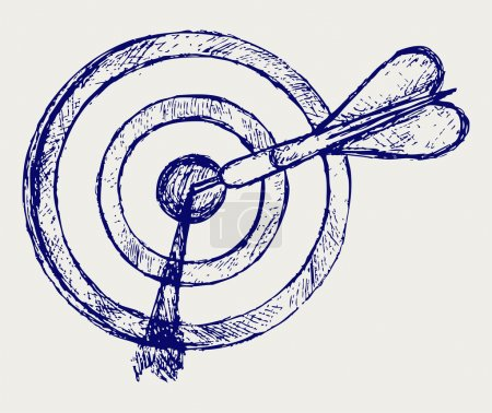 Photo for Sketch pencil. Target - Royalty Free Image
