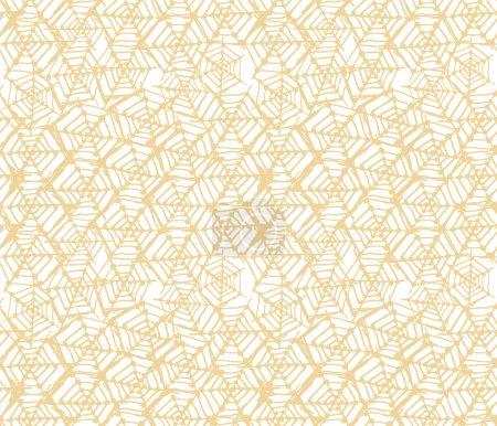 Illustration for Seamless geometric pattern. Op art design - Royalty Free Image