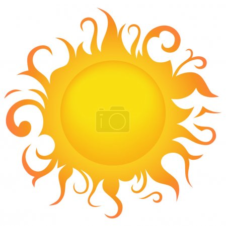 Illustration for Symbol sun - Royalty Free Image