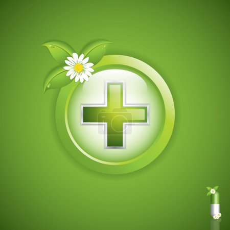 Illustration for Alternative medication concept - medical cross vector - Royalty Free Image