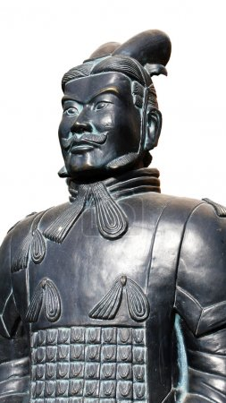 Ancient Terracotta warrior on a white background