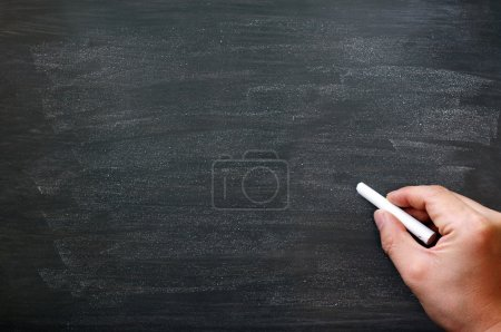 Photo for Blackboard / chalkboard. Hand writing with copyspace for text. Nice texture. - Royalty Free Image