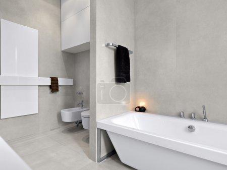 Modern tub in a bathroom