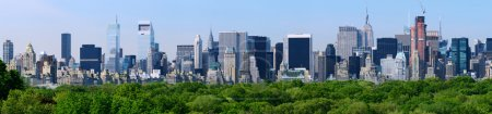 Photo for Panorama of midtown Manhattan at night in New York City - Royalty Free Image